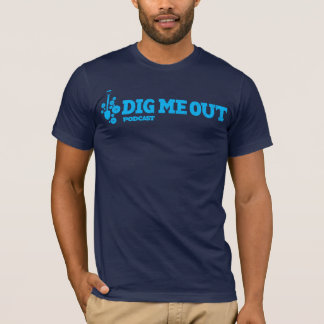 Dig Me Out Horitzontal Blue Logo on Navy T-Shirt
