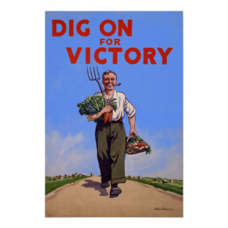 Dig on for Victory Vintage Poster