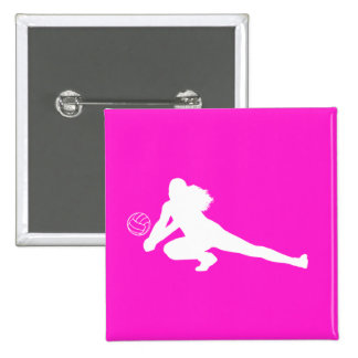 Dig Silhouette Button Pink