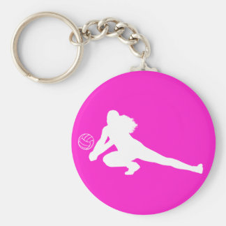 Dig Silhouette Keychain Pink