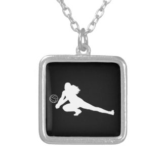 Dig Silhouette Necklace Black