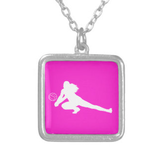 Dig Silhouette Necklace Pink