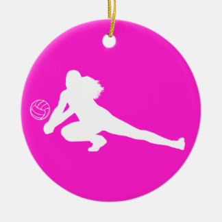 Dig Silhouette Ornament w/Name Pink
