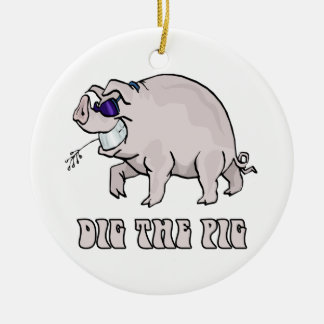 Dig the Pig Christmas Ornament
