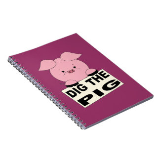 Dig The Pig (pink) Notebook