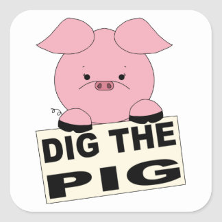 Dig The Pig (pink) Sticker Sheet