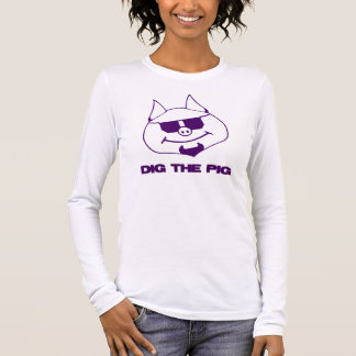 Dig The Pig Purple Long Sleeve T-Shirt