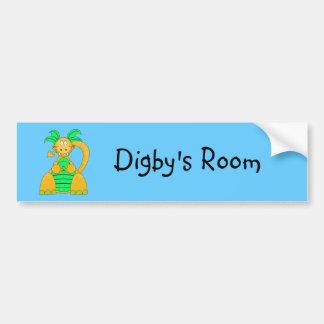 Digby Dino Bumper Sticker