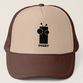 Digby Robot Cap - Black and White