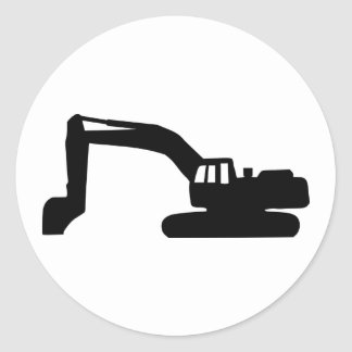 Digger Classic Round Sticker