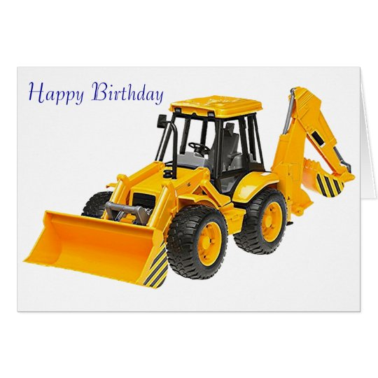 Digger image for birthday greeting card