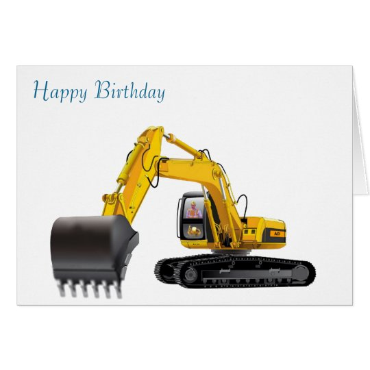 Digger image for birthday-greeting-card card