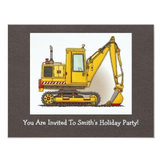 Digger Shovel 11 Cm X 14 Cm Invitation Card