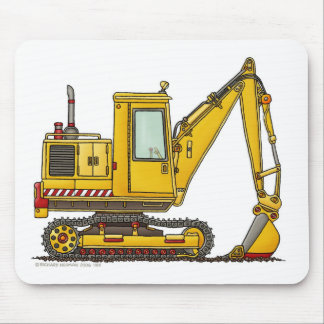 Digger Shovel Construction Mouse Pad