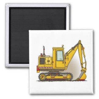 Digger Shovel Square Magnet