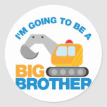 Digger Truck Going To Be A Big Brother Sticker