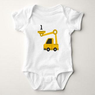 Digger Vest Age 1 Baby Bodysuit