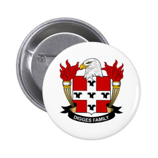 Digges Family Crest Button