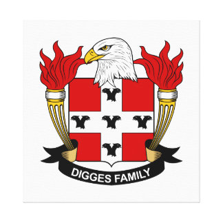Digges Family Crest Gallery Wrapped Canvas