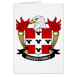 Digges Family Crest Cards