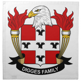 Digges Family Crest Cloth Napkin