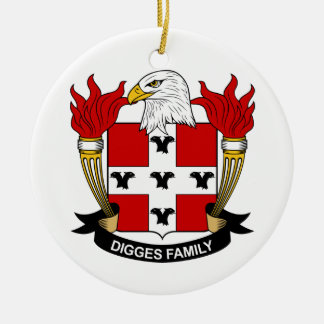Digges Family Crest Christmas Tree Ornament