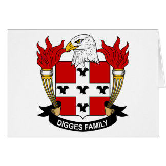 Digges Family Crest Greeting Card