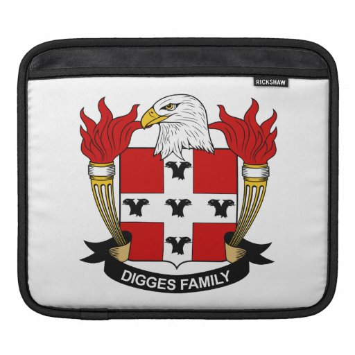 Digges Family Crest Sleeves For iPads