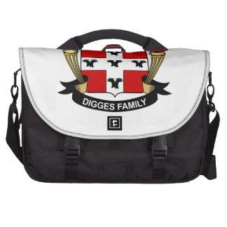 Digges Family Crest Computer Bag