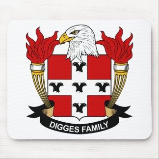 Digges Family Crest Mouse Mats