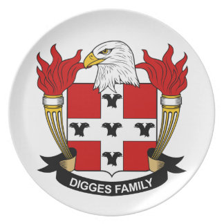 Digges Family Crest Plate
