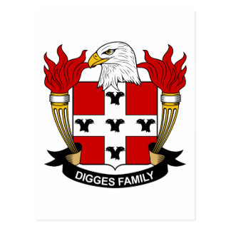 Digges Family Crest Postcard