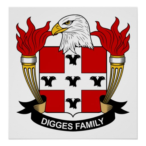 Digges Family Crest Posters