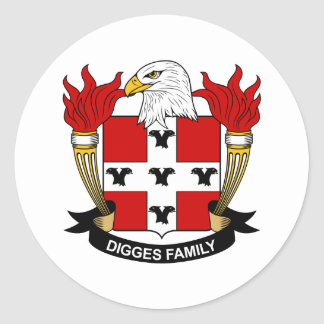 Digges Family Crest Stickers