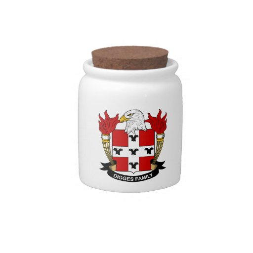 Digges Family Crest Candy Dish