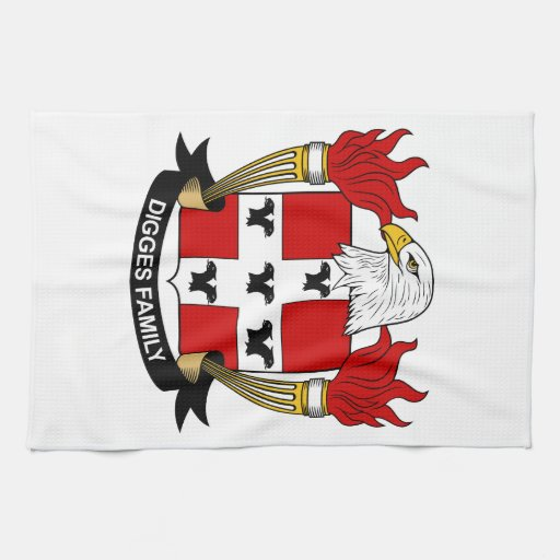 Digges Family Crest Hand Towel