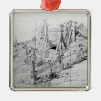 Digging a well in Lower Bedford Place, London Christmas Ornament