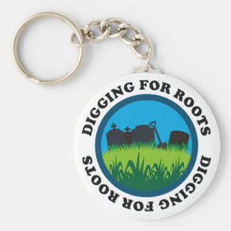 Digging For Roots Basic Round Button Key Ring