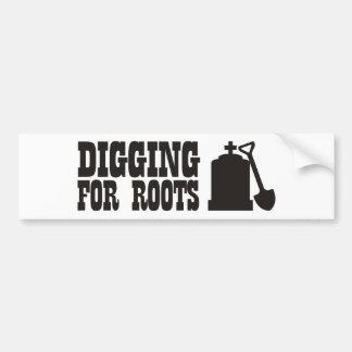 Digging For Roots Car Bumper Sticker
