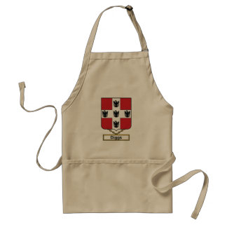 Diggs Family Crest Aprons