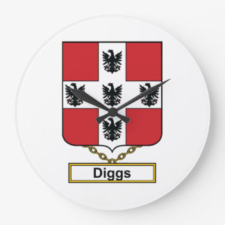 Diggs Family Crest Clock