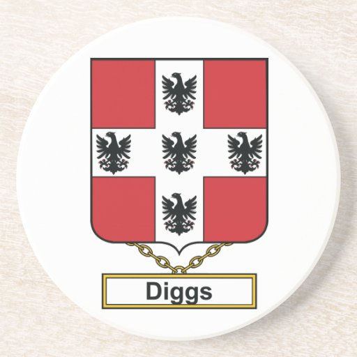 Diggs Family Crest Coaster