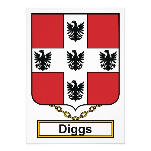 Diggs Family Crest Personalized Announcement