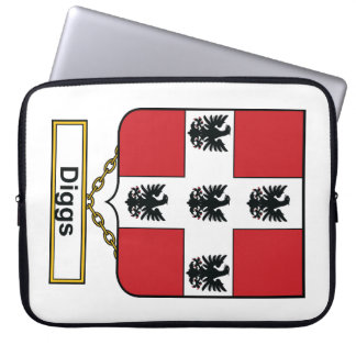 Diggs Family Crest Computer Sleeve
