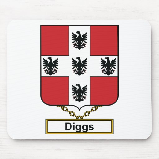Diggs Family Crest Mousepads