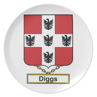 Diggs Family Crest Plates