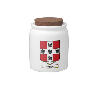 Diggs Family Crest Candy Dish