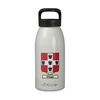 Diggs Family Crest Drinking Bottle