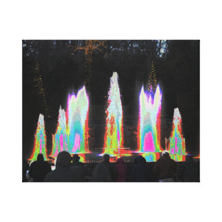 Digital Abstract Art -  Water Fountain Decorations Stretched Canvas Print
