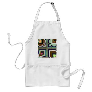Digital Abstract - AsymGreenBlueBrown Standard Apron